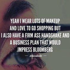 #BOSSBABE™ Business woman, makeup, mascara, eyelashes, business plan, shopping, hand shake, business woman