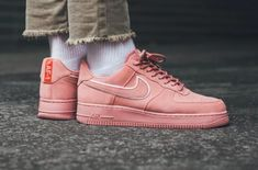 Red Stardust Shines On The Nike Air Force 1 07 LV8