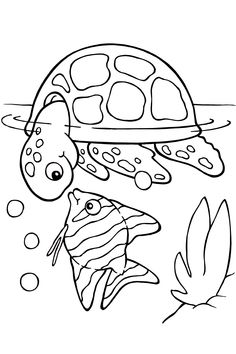 T is for turtle! [coloring page]