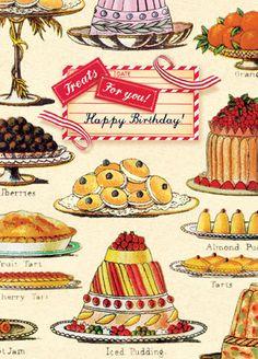 Cartolina card - Treats for you! Happy Birthday! CC236