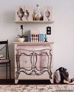 Paint on an optical illusion | 99 Clever Ways To Transform A Boring Dresser