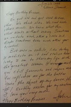 A Letter Written By Johnny Cash To June, His Princess. Excuse while I go bawl in the corner.