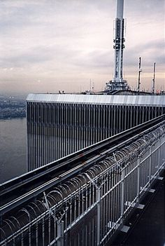 Top of the World Trade Center. What a view that must have been. 彡✶*