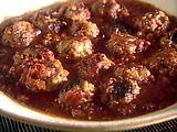 I've made this (with a couple substitutions) a couple times now and dig it. Mini Turkey Meatballs Recipe from Giada De Laurentiis. We use light turkey (surprisingly flavorful), double the parmesan and leave out the pecorino, use a handful of fresh rosemary instead of parsley, and serve over pasta
