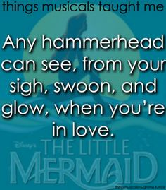 Any hammerhead can see, from your sigh, swoon, & glow, when you're in love.