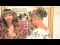 Tutorial - How to Install Lace Closure Sew In on Receding Hairline - NO GLUE - NO ELASTIC - YouTube