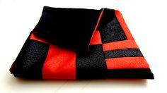 "pillow case, 18 / 18"", decorative pillows, throw pillows, patchwork pillow, sofa cushions, pillowcase zipper, red, black   $21,00 USD"