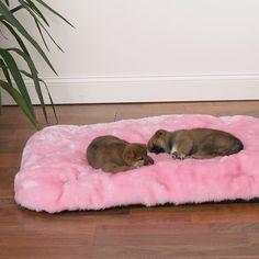 Pink Fluffy Cloud Dog Bed - DogSupplies.com