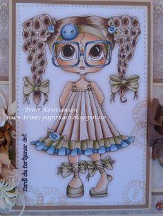 Bestie close-up by Trine Kristiansen.... see entire card in her blog post