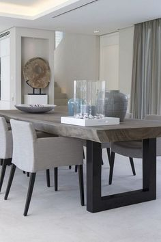 24 Top Modern Industrial Dining Furniture Set Design and Decorating Ideas - Page 13 of 26 Furniture Sets Design, Dining Room Furniture Sets, Dining Room Sets, Dining Room Chairs, Furniture Stores, Contemporary Dining Table, Dining Table Design, Rustic Contemporary, Home Decor Ideas