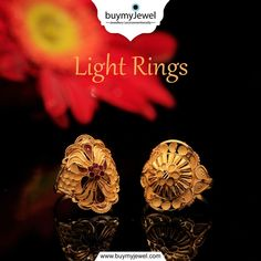 Make memories. Explore our Light Rings collection. Gold Ring Designs, Gold Earrings Designs, Necklace Designs, Gold Jewelry Simple, Gold Rings Jewelry, Fancy Jewellery, Gold Jewellery Design, Heavy Earrings, Gold Mangalsutra Designs