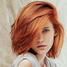 If you are looking for a new, bright and eye-catching hair color this bob hairstyles with red hair color shades will be your guide to a beautiful hair color. Stacked Bob Hairstyles, Hairstyles Haircuts, Bob Haircuts, Bride Hairstyles, Blonde Bob Haircut, Short Red Hair, Beautiful Hair Color, Mid Length Hair, Red Hair Color
