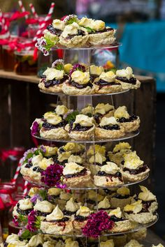 You can spot a Cornish wedding a mile off when the cream tea tower scones have jam first! Love this real wedding feature on www.pastiesandpetticoats.co.uk - click the photo to go check it out!