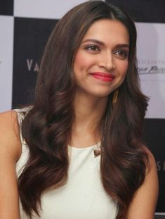 Deepika Padukone in long layered hairstyle