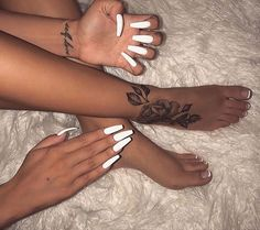 35 Cool Acrylic Coffin Nail Designs You Need to Copy Immediately - Nail Art Connect Dope Tattoos, Pretty Tattoos, Body Art Tattoos, Small Tattoos, Tatoos, Foot Tattoos For Women, Tattoos Skull, Beautiful Tattoos, Nail Ideas
