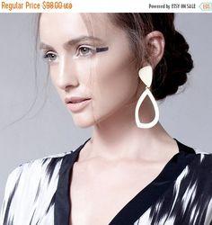 ESTATE vendita argento orecchini lunghi doppi di PazitKeidarDesign