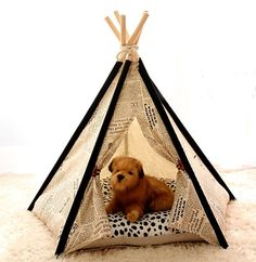 Newspaper pet house dog teepee tent cat house by goodhapy on Etsy, $70.00