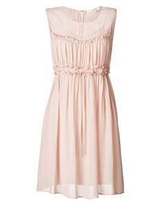 Vanessa Bruno Athé silk dress with ruffle detailing