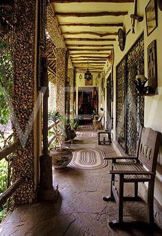 Interior of Alan Donovans house in Kenya