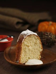 Adopt a twist to the traditional bundt cake with a twinkie cream filling or cream on the side