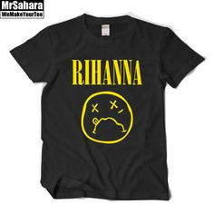 Resultado de imagen para rihanna nirvana t shirt