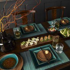 Oriental Teal Tableware