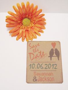 Love Birds Save the Date Fall Rustic Country Barn Garden Love Wedding Rehearsal Dinner Anniversary Vow Renewal Customizable DEPOSIT & SET UP. $25.00, via Etsy.
