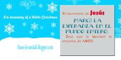 """Frases de Navidad: """" El nacimiento de JESUS MARCÓ LA ESPERANZA EN EL MUNDO ENTERO. Deja que la Navidad te envuelva de AMOR."""""""