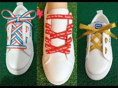 (7) 15 Kiểu Cột Dây Giày Đẹp Mới Lạ - Creative Ways to fasten Shoelaces - YouTube Shoe Lacing Techniques, Ways To Lace Shoes, Creative Shoes, Lace Art, Chabby Chic, Tie Shoelaces, Shoe Crafts, Cute Pillows, Tie Shoes