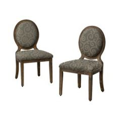 Oval Back Chair - Smoke/Blue Gray - Set of 2 Quick Information  Target $140 for 2