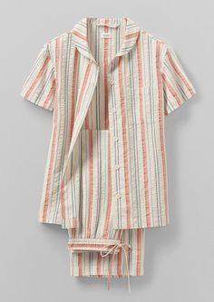 Cotton Nighties, Cotton Pyjamas, Cotton Sleepwear, Sleepwear Women, Pajamas Women, Toddler Pajamas, Pajama Outfits, Night Suit, Striped Pyjamas