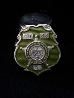 Vintage 1960's 1970's Cuban Police Badge by BlackCatBoneVintage, $175.00