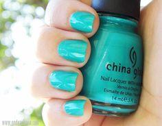 * China Glaze Turned Up Turquoise 70345 | Summer 2005 Nervy Neons Collection | Anda Zelenca