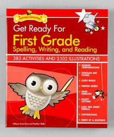 Take a look at this Get Ready for First Grade: Spelling, Writing & Reading Hardcover by Back To School: Educational Activities on #zulily today!