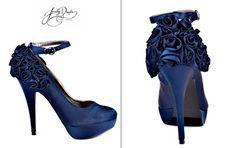 """""""something blue"""" navy wedding shoes!"""