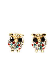 Poppy Owl Earrings