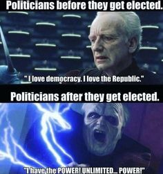 Palpatine, a classic politician