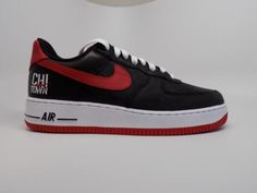 save off 9e4b8 6663e Nike Air Force 1 Low Retro Black Red CHI TOWN Chicago AF1 CHI 845053 001  8-13