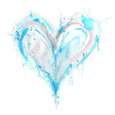 Watercolor heart tattoo - love this but I would use a different color scheme