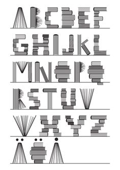 Abecedario de libros / Alphabet of books