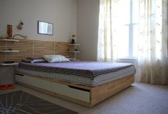 Ikea Mandal Bed and headboard