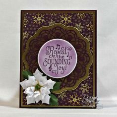 Our Daily Bread Designs Stamp set: Christmas Carols, Our Daily Bread Designs Paper Collection: Christmas 2015, Our Daily Bread Designs Custom Dies: Doily, Peaceful Poinsettias, Circle Ornaments