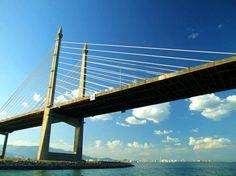 Penang Bridge, connecting the island to Peninsula Malaysia.