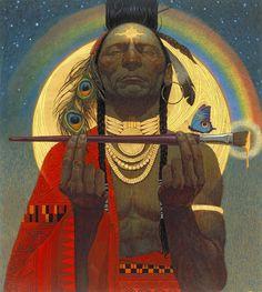 Indian Paintbrush by Thomas Blackshear Dora Carrington, American Indian Art, Native American Art, Walton Ford, Retro 50, Thomas Blackshear, Maurice Utrillo, Canvas Artwork, Canvas Prints