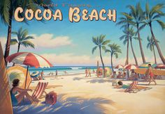 Travel posters are deceiving, apparently.  My hometown beach never looked quite like this, not even back in the day.
