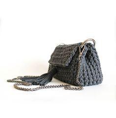 Bag Crochet, Crochet Clutch, Crochet Handbags, Crochet Purses, Finger Knitting, Knitted Bags, Foto E Video, Crochet Projects, Bucket Bag