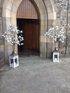 Posy barn blossom trees outside church ceremony pinterest similar ideas junglespirit Image collections