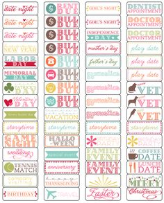 elementary organization: oh, calendar, my calendar, love these labels!!