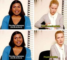 """When Kelly and Angela approached their days in very different ways: 29 Quotes From The Ladies Of """"The Office"""" That Still Are Hilarious Angela The Office, The Office Nbc, The Office Show, Best Of The Office, Office Fan, Office Jokes, Funny Office Quotes, Hilarious Quotes, The Office Love Quotes"""