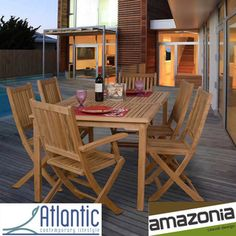 Amazonia 'Augusta' Teak 7-piece Dining Set - Overstock™ Shopping - Big Discounts on Amazonia Dining Sets
